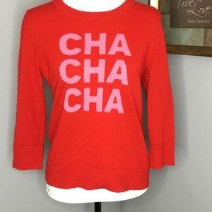 Kate Spade Cha Cha Cha Sweater Sz L